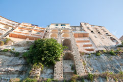 Die Stadt von Tropea, Kalabrien, Ansicht vom Meer Lizenzfreie Stockbilder