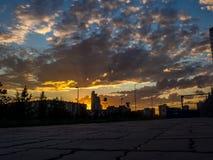 Die Stadt vor dem Sonnenuntergang Lizenzfreies Stockbild