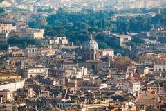 Die Stadtbildansicht von zentralem Rom vertreten von St. Peter Basilica Lizenzfreies Stockfoto