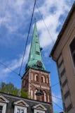 Die Stadtlandschaft Riga, Lettland lizenzfreies stockfoto