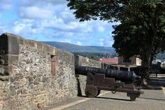 Die Stadtmauer von Derry in Nordirland stockfotos