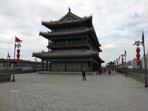 Die Stadtmauer von Xi'an stockbilder