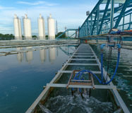 Die Stadtwasserwerk-Berechtigung Lizenzfreies Stockbild