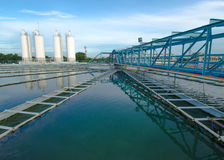 Die Stadtwasserwerk-Berechtigung Lizenzfreie Stockbilder