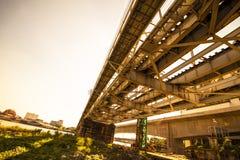 Die Stahlbrücke Stockfoto