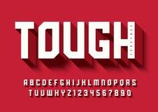 Die starke mutige Anzeigenschriftart, Alphabet, Schriftbild, Buchstaben vektor abbildung