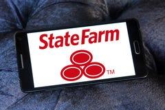 Die State Farm Insurance Logo Lizenzfreies Stockfoto