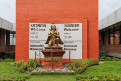 Die Statue im Flughafen, Kathmandu, Nepal Lizenzfreies Stockbild
