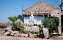 Die Statue Madonnas in einem kleinen Dorf in Kalabrien Stockfoto