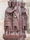 Statue mit vier Tetrarchs Lizenzfreie Stockfotos