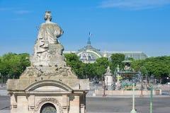 Die Statue Straßburg, Fontaine DES Mers auf dem Platz de la Conc Lizenzfreies Stockbild