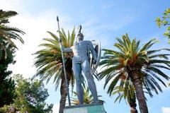 Die Statue von Achilleus in Achilleion Lizenzfreies Stockfoto