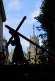 Die Statue von Christus die Kirche verlassend lizenzfreie stockfotos