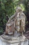 Die Statue von Heinrich Heine bei Achilleion in Gastouri, Korfu, Griechenland Lizenzfreies Stockfoto