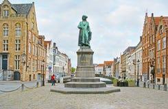 Die Statue von Jan van Eyck Lizenzfreie Stockfotografie