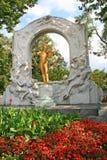 Die Statue von Johann Strauss Lizenzfreies Stockfoto