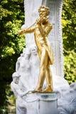 Die Statue von Johann Strauss im stadtpark in Wien, Österreich Lizenzfreies Stockbild