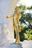 Die Statue von Johann Strauss in Wien, Österreich Lizenzfreies Stockfoto