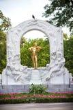 Die Statue von Johann Strauss in Wien, Österreich Stockfotografie