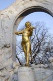 Die Statue von Johann Strauss in Wien, Österreich Stockbild