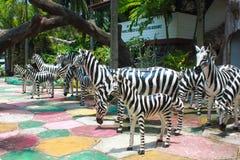 Die Statue von Zebras Stockbilder