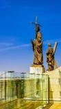 Die Statuen der Kathedrale von Almudena Stockfotografie