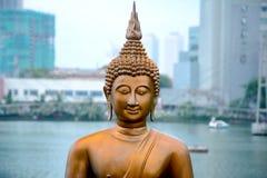 Die Statuen von Seema Malakaya, Sri Lanka lizenzfreie stockfotos