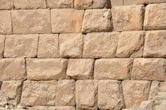 Die Steinblöcke der großen Pyramide von Ägypten Lizenzfreie Stockbilder