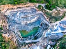 Die Steinbruch-Ansicht stockfotografie