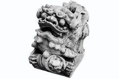 Die Steinskulptur eines Löwetorwächters des Tempels Lizenzfreie Stockfotografie