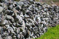 Die Steinwand Stockbild