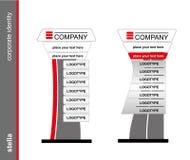 Die Stella Schablone für Unternehmensidentitä5 Leeres Modell für Design Stockfotos