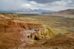 Die Steppenregionen, zu den Plätzen wie Mars lizenzfreies stockbild