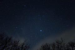 Die Sterne auf Whiteside-Berg Lizenzfreie Stockfotografie