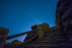 Die Sterne in einer perfekten Nacht Lizenzfreies Stockbild