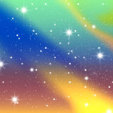 Die Sterne und das galagy. vektor abbildung