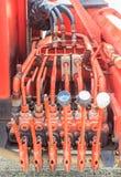 Die Steuerung hydraulisch stockfoto