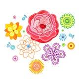 Die stilisiert Blumen. Stockbild