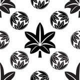 Die stilisierten nahtlosen Ahornblätter, japanischer Symbolismus Lizenzfreie Stockbilder