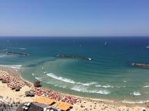 Die Strände von Tel Aviv Lizenzfreies Stockbild