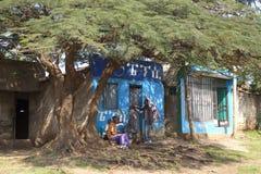 Die Straße in Addis Ababa Stockbilder