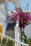 Die Straße auf der griechischen Insel Santorini Lizenzfreie Stockfotos