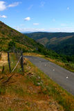Die Straße auf Frankreich-Berg Stockfoto