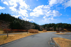 Die Straße auf Fuji San in Shizuoka Stockbilder