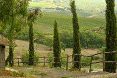 Die Straße bei Toscany Lizenzfreie Stockfotos