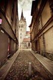 Die Straße in Cesis, Lettland stockfotografie