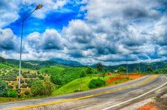 Die Straße der Landschaft Stockfotos