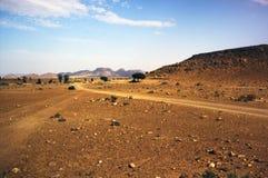 Die Straße in der Wüste Stockbild