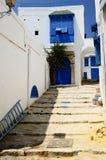 Die Straße des kleinen Tunesiers stockbilder