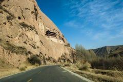 Die Straße durch Berge Stockbild